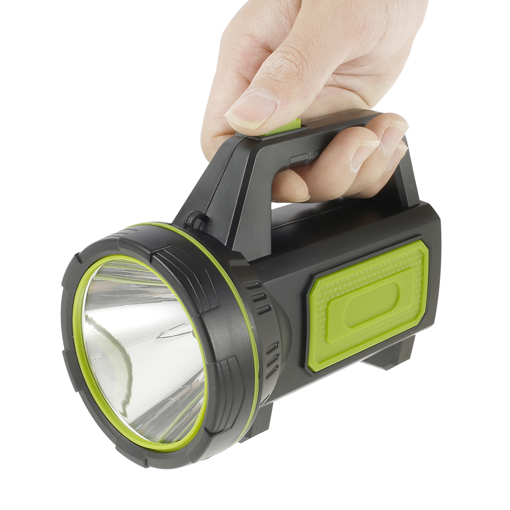 LED Flashlight Torch Rechargeable Lantern Searchlight 1000m Range Portable Spotlights Hunting Camping Flashlight with Side Light