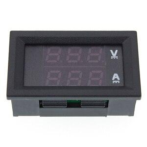 """Image 5 - DC 0 100V 10A voltmètre numérique ampèremètre double affichage détecteur de tension courant mètre panneau ampèremètre 0.28 """"rouge bleu LED"""