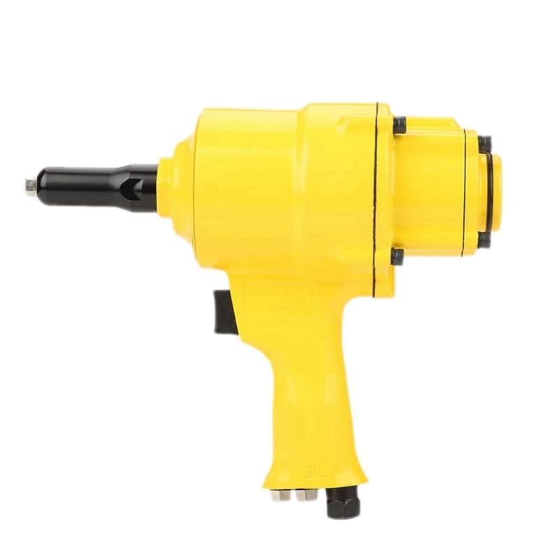 SHGO HOT-Pneumatic Riveter Industrial Double Cylinder Type Air Riveter Pneumatic Nail Gun Riveting Tool