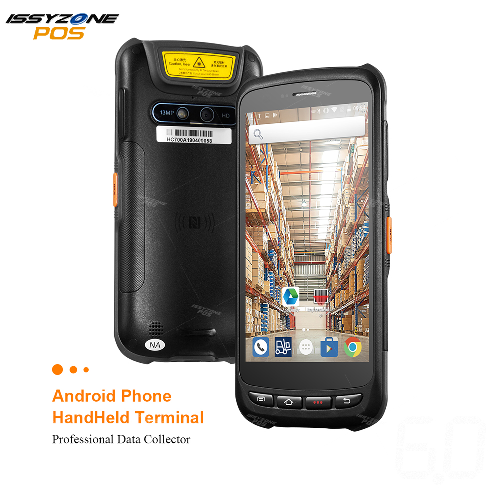 IssyzonePOS 2D Barcode Scanner PDA Android 6.0 POS Data Terminal NFC Wireless Barcode Reader Data collector Touch Rugged PDA image