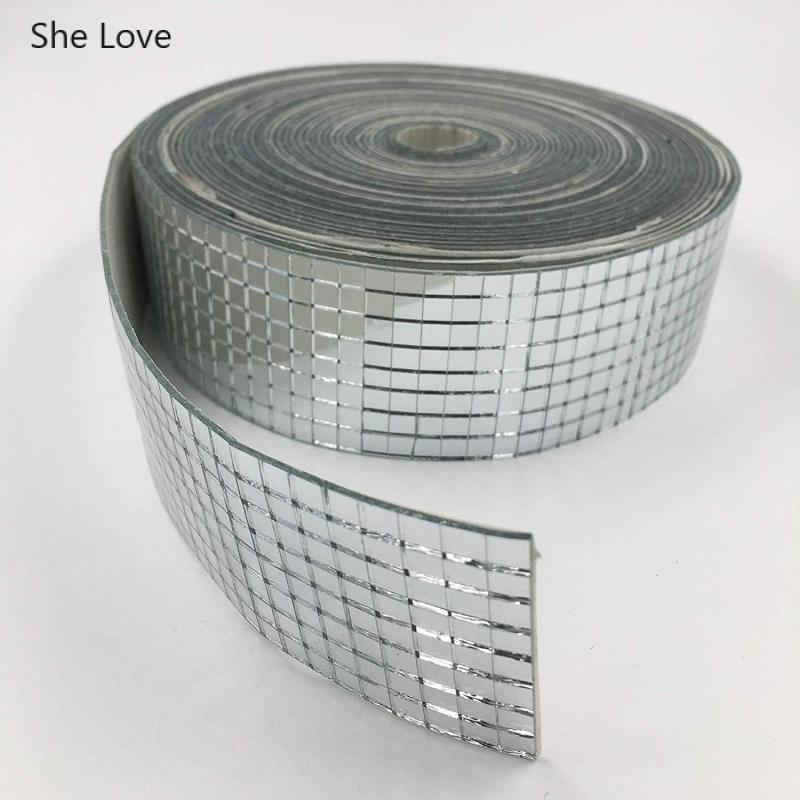 She Love 1 rollo auto-adhesivo de vidrio cuadrado espejo de mosaico de azulejo de pared DIY hechos a mano decoración del hogar 100 Uds. Herramientas de construcción de pared de piso de cerámica plana sistema de nivelación de azulejos reutilizable Kit de sistema de nivelación de azulejos