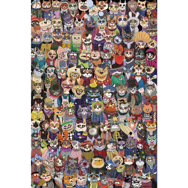 Michelangelo Wooden Jigsaw Puzzle Cats Group Photo 1000 Pieces 2000 Pieces Children's Gift 1