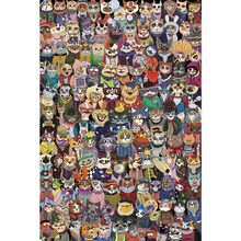 Michelangelo Wooden Jigsaw Puzzle Cats Group Photo 1000 Pieces 2000 Pieces Children's Educational Toys Gift Adult Hobby