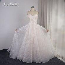 فساتين زفاف متألقة على شكل قلب تنورة لامعة طبقات فستان زفاف جديد مخصص