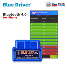 Bluetooth ELM327 V2.1 for iPhone Free Update Car OBD2 Scanner Automotive Engine Diagnostic Tools