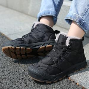 Image 1 - Children Winter Shoes Boys Warm Plush Fur Sneakers For Girls Fashion Waterproof Sport Kids Running Shoes Non slip Snow Footwear