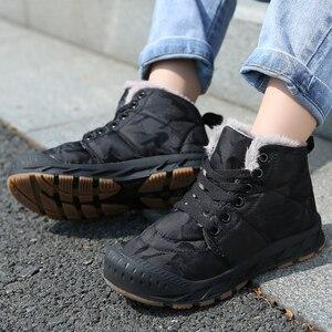 Image 1 - Çocuk kış ayakkabı erkek sıcak peluş kürk Sneakers kızlar için moda su geçirmez spor çocuk koşu ayakkabıları kaymaz kar ayakkabı