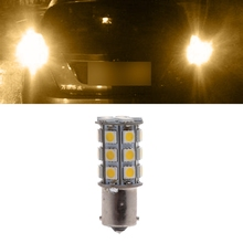 Car Warm White 1156 BA15S Camper Trailer 5050 27-SMD LED Interior Light Bulb #kui gu10 27 6w 138 smd 5050 led 1794lm warm white light bulb 85 265v
