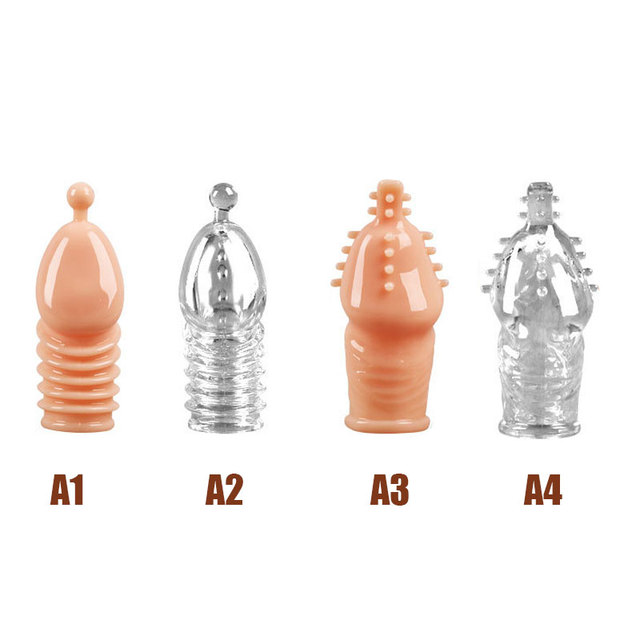 Lengthen Reusable Enlargement Condoms Extend G point Ring Male Penis Extension Sleeves Sex Toys for Man Adults Intimate Goods 4