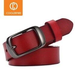 Cinturón informal de cuero genuino para mujer