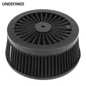 Image 1 - Motorcycle Air Cleaner Filter System Inner Element Black For Harley Sportster 883 1200 XL Dyna Softail Fat Boy Touring Road King
