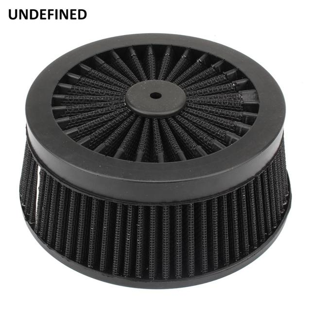 Motorcycle Air Cleaner Filter System Inner Element Black For Harley Sportster 883 1200 XL Dyna Softail Fat Boy Touring Road King