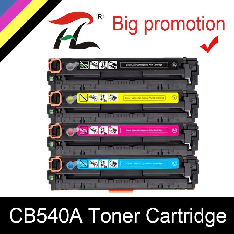 HTL Compatible CB540A 540A 540 CB543A 125A Couleur Cartouche De Toner De Remplacement Pour LaserJet CP1215 CP1515n CP1518ni CM1312