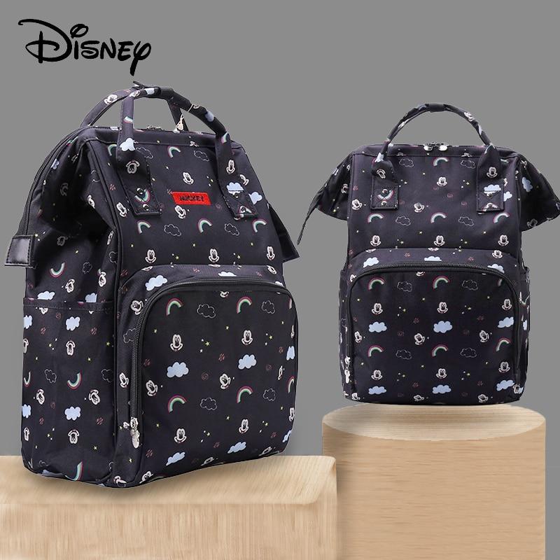 Disney Mickey Minnie Diaper Bag Stroller Handbag Backpack For Moms Large Capacity Maternity Nappy Bag Baby Care Bag Rainbow New