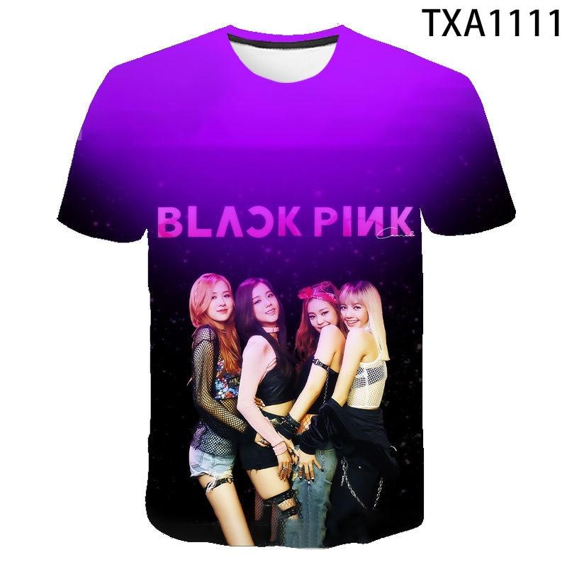 2020 Modis Blackpink Harajuku 3D Printed T-shirt Casual Men Women Children T Shirts Fashion Short Sleeve Summer Tops Cool Tee