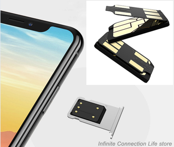 Sim 2 Iphones dual sim adapter change single sim to dual sim, sim card slot Adapter Convert to double sim for Iphone Sim adaptor фото