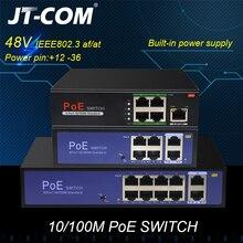 48V Network POE Switch Ethernet 10 100 1000Mbps 5 8 10ports IEEE 802 3af at Suitable