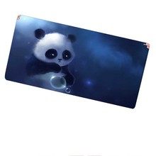 Shop Free Shipping Locking Edge Large Gaming Lovely Panda Mouse Pad for Computer Laptop