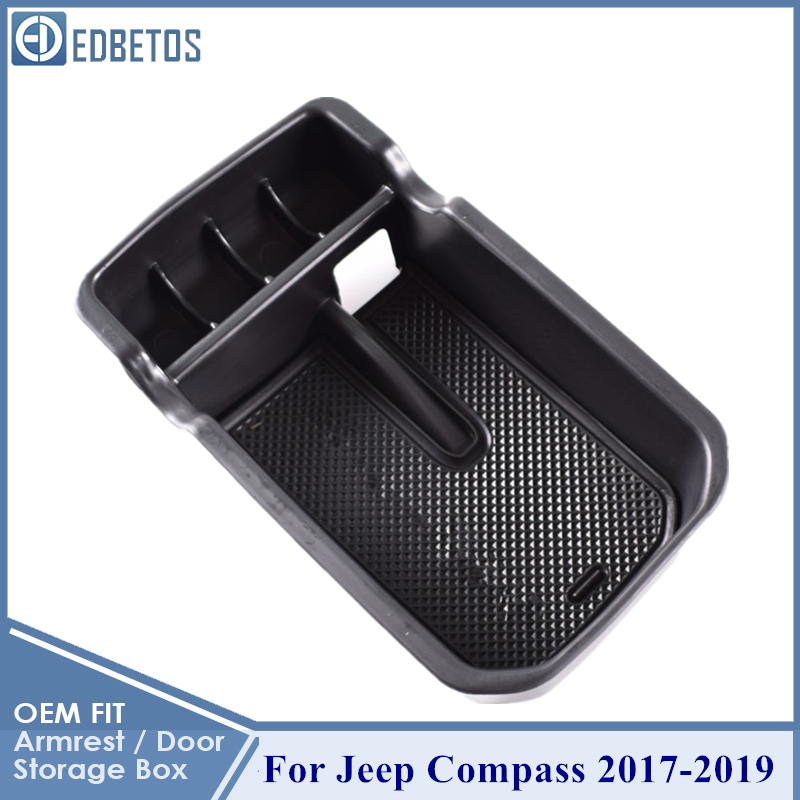 New <font><b>Compass</b></font> Armrest Storage Box For <font><b>Jeep</b></font> <font><b>Compass</b></font> 2017 2018 <font><b>2019</b></font> Center Console Organizer Tray <font><b>Compass</b></font> Glove Box Coin Holder image
