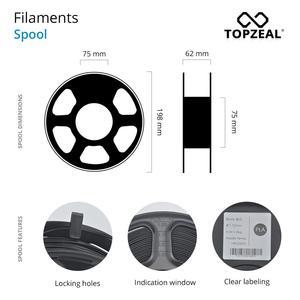 Image 5 - TOPZEAL di Alta Qualità PLA/ABS/PETG/TPU/Nylon 3D Stampante Filamento 1.75 millimetri Bobina e 10M * 10 Colori Del Campione per 3D Materiali di Stampa