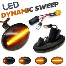 1 par carro dinâmico led indicador de luz marcador lateral repetidor lâmpadas para opel meriva a corsa c b astra f combo c tirgra a sintra