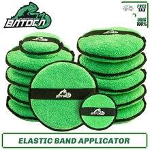 Batoca microfiber cera aplicador almofada de polimento de carro conjunto de limpeza lavagem espuma polimento almofada melhor aderência de banda elástica ferramenta ideal