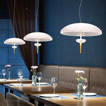 Modern Clear Glass LED Pendant Lights Dinning Room Bar Coffee mushroom Pendant lamp Suspension Loft Deco Hanging lamps Luminaire