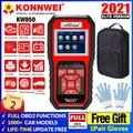 KONNWEI KW850 полный OBD2 автомобильный диагностический инструмент OBD 2 Авто диагностический сканер для проверки двигателя O2 датчик Батарея Тесты ч...