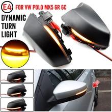 For Volkswagen VW POLO MK5 6R 6C 2009 2013 2014 2015 2016 2017 Dynamic LED Turn Signal Light Side Wing Mirror Indicator Blinker