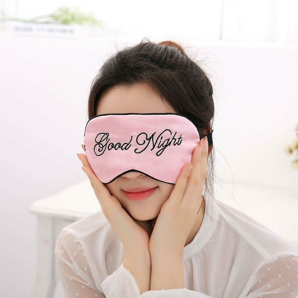 New 1pc Soft Mask Sleep Relax Aid For Travel Blindfold Padded Shade Nap Cover Eye Mask Travel Accessories Dropshipping Wholesale
