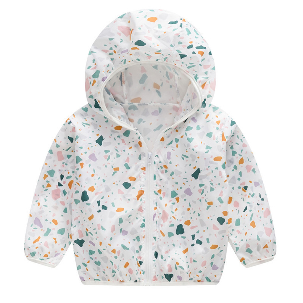 Baby Coat Outerwear Sunscreen-Jackets Girls Toddler Infant Newborns Hooded-Windbreak