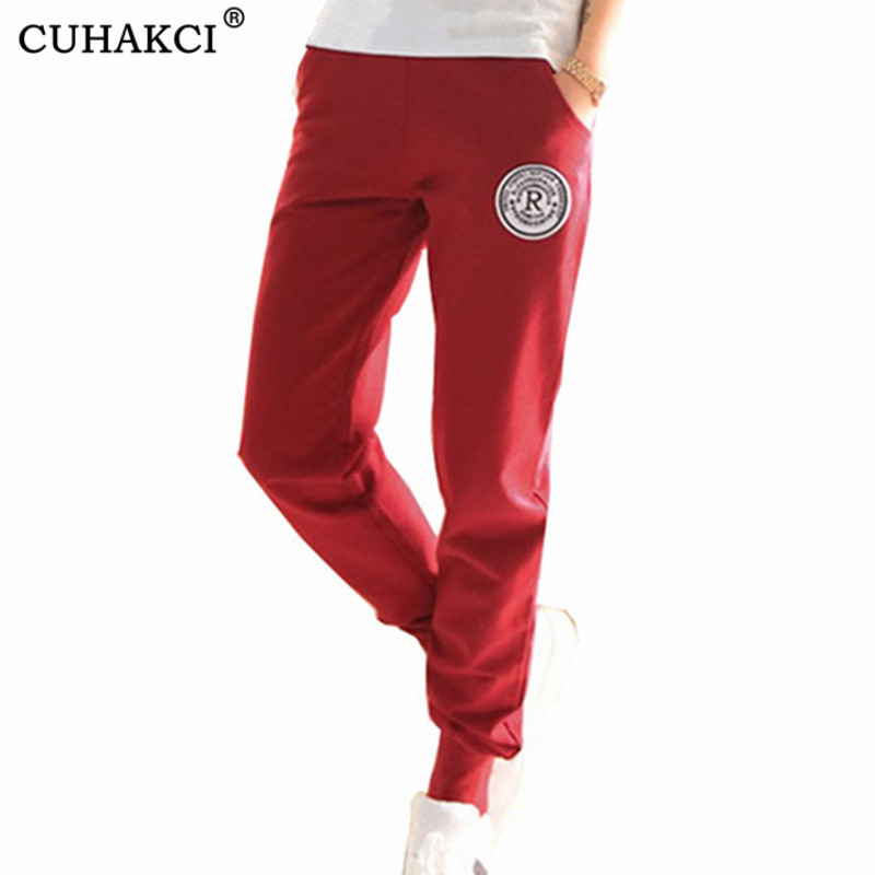 CUHAKCI New Cotton Pants Women Deportes Pants Casual Loose Fitness Pant Hot Plus Size Trousers Ankle Length Pancil Pantalones