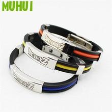Free Shipping 3 Colors Anime Bracelets For Women Titanium Steel Silicone Bracelet Men