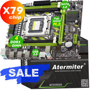 Atermiter X79 X79G motherboard Mainboard PC gaming LGA 2011 USB2.0 SATA3 PC3 support REG ECC memory and Xeon E5 processor DDR3