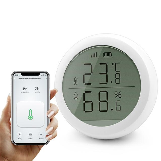 Tuya Smart Zigbee Smart Temperature And Humidity Sensor With LED Screen Display Battery Supply For Zigebee Smart Home Securuty