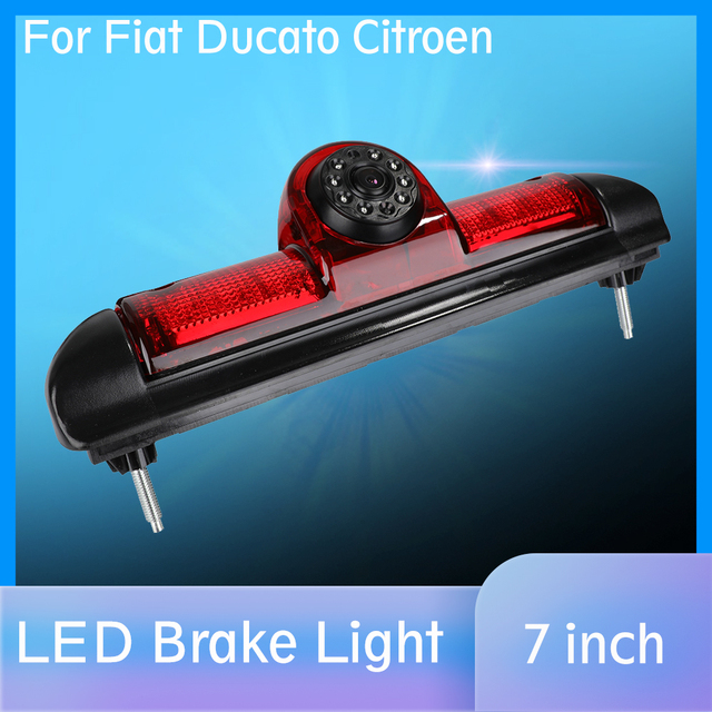 Caméra de recul pour feux de freinage de voiture pour Citroen JUMPER III / Fiat DUCATO X250 / Peugeot BOXER III avec lumière Led IR intégré de 6 pièces