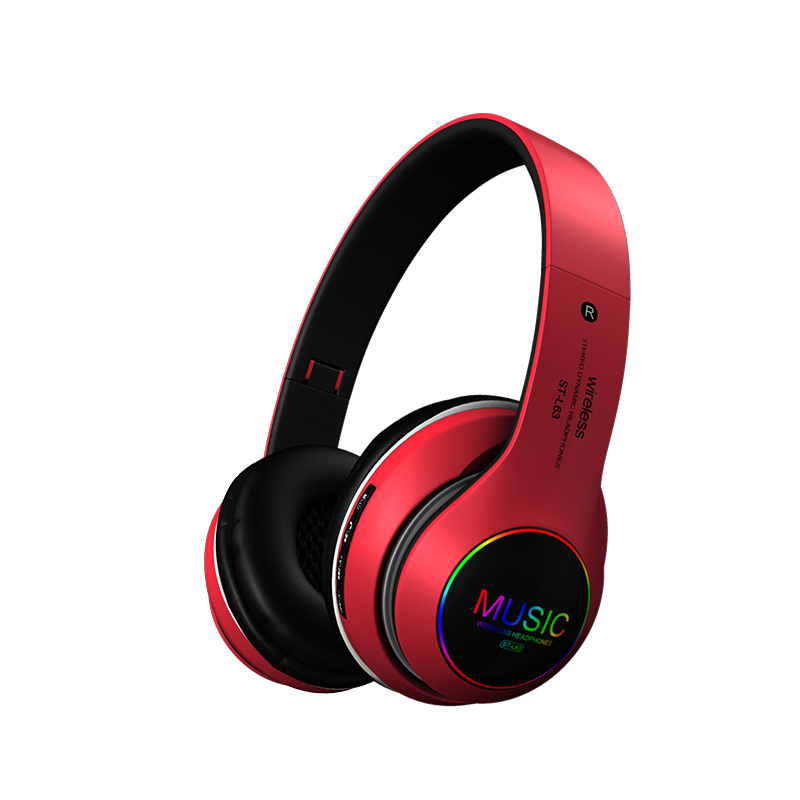 Wireless Bluetooth Headphones Noise Cancelling Headset Foldable Stereo Bass Sound Adjustable Earphones With Mic For Pc All Phone Leather Bag