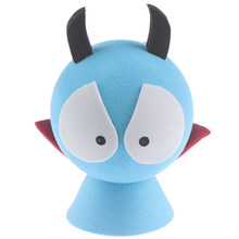 1 Pc 7.5 Cm * 5 Cm Blauwe Auto Topper Ballen Voor Auto Rood Shirt Devil Antenne Topper Eva Decoratieve auto Dak Decoratie(China)