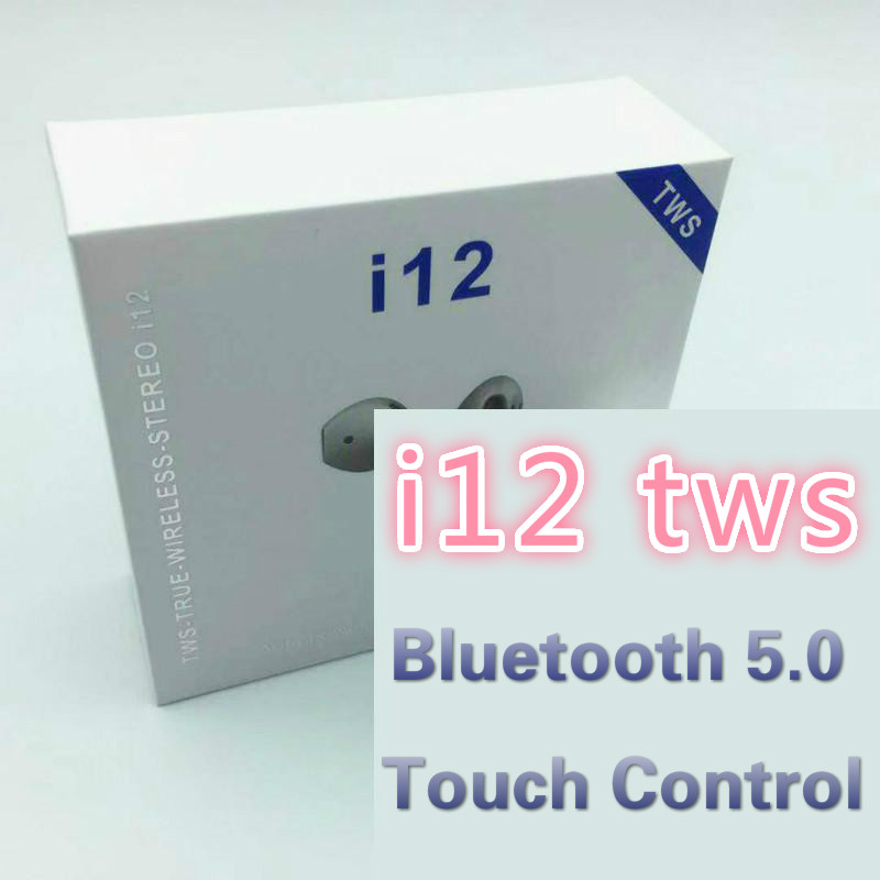 <font><b>i12</b></font> <font><b>TWS</b></font> Touch control <font><b>Wireless</b></font> <font><b>Mini</b></font> earpiece <font><b>Bluetooth</b></font> <font><b>5.0</b></font> headset <font><b>earphones</b></font> pk i10 i11 <font><b>tws</b></font> for iphone <font><b>Smart</b></font> Phone image