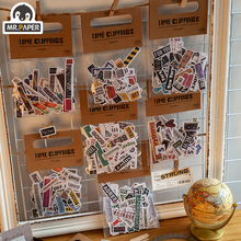 Sticker Decorative Scrapbooking Diary-Material Retro-Time Mr.paper 8-Styles 100pcs Planner