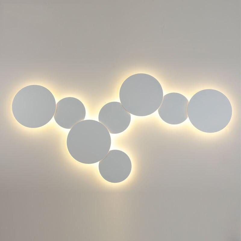 Скандинавские прикроватные eclipse комбинированные настенные лампы креативная лестница коридор лампа гостиная коридор черный/белый