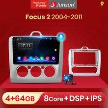 Junsun – autoradio V1 Android 10, Navigation GPS, lecteur multimédia, 2 din, commande vocale AI, pour voiture ford focus 2 3 Mk2 Mk3 2004 2005 – 2011