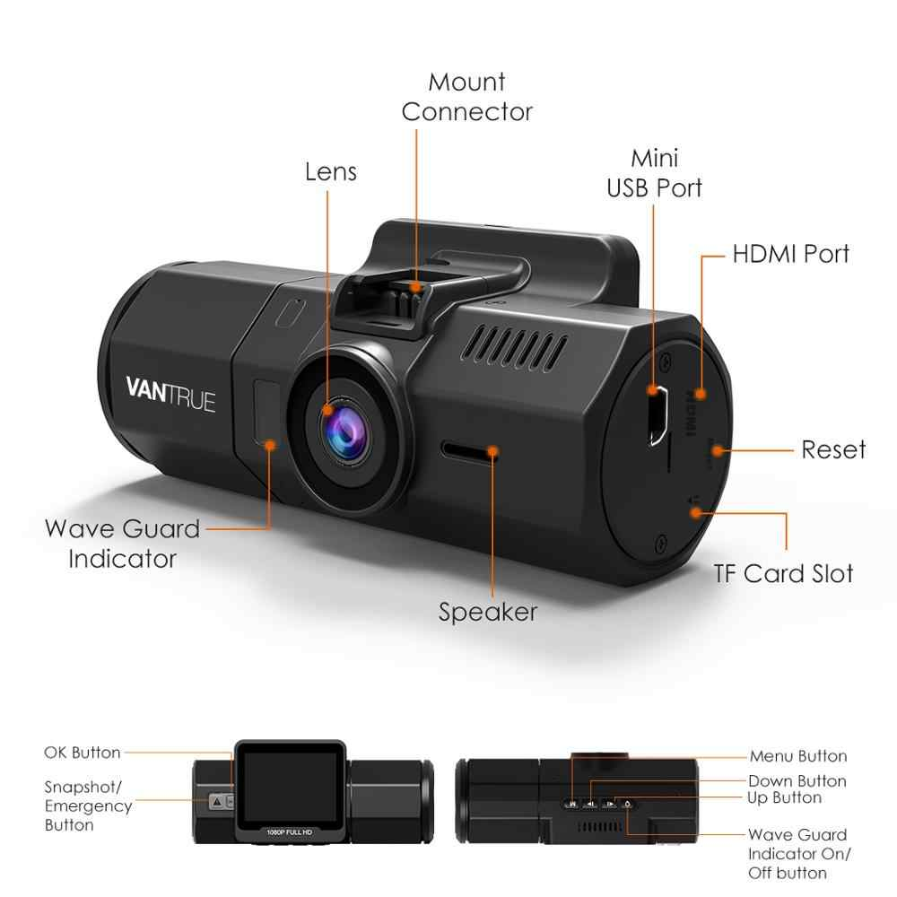 Vantrue T2 24//7 Surveillance Super Capacitor Dash Cam Parking Mode Recorder