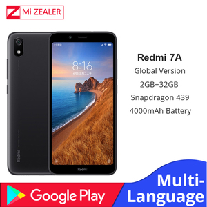 "Image 1 - Global Version Original Redmi 7A โทรศัพท์มือถือ 2GB 16GB มาร์ทโฟน Snapdargon 439 OCTA Core 5.45 ""4000 mAh แบตเตอรี่"