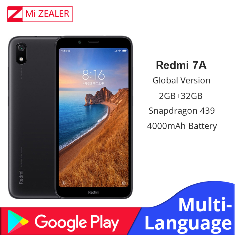 "Global Version Original Redmi 7A Mobile Phone 2GB 16GB Smartphone Snapdargon 439 Octa Core 5.45"" 4000mAh Battery"