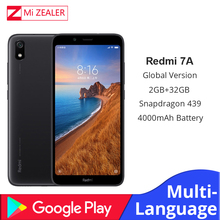 """הגלובלי גרסה המקורי Redmi 7A נייד טלפון 2GB 16GB Smartphone Snapdargon 439 אוקטה core 5.45 """"4000 mAh סוללה"""