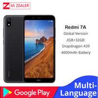 "Version mondiale Original Redmi 7A téléphone portable 2GB 16GB Smartphone Snapdargon 439 Octa core 5.45 ""4000 mAh batterie"