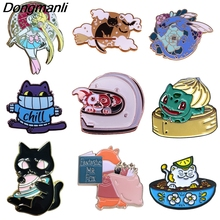BG022 Dongmanli  Cartoon Anime Cute Animal Metal Enamel Pins and Brooches for Lapel Pin Backpack Bags Cats Badge Collar Jewelry k831 cute donkey cartoon anime enamel pins and brooches for women men lapel pin backpack bags badge collection gifts 1pcs