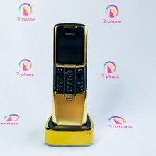 Celular nokia 8800 clássico original, 2g gsm desbloqueado, 8800 teclado russo, árabe inglês, dourado
