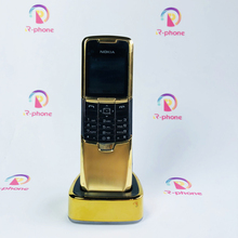 Orijinal Nokia 8800 Classic cep telefonu 2G GSM unlocked 8800 rus arapça İngilizce klavye altın yenilenmiş